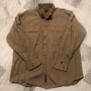 5.11 Tactical Series button up shirt. Tan XL